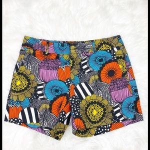 Banana Republic Marimekko Floral Shorts Size 4